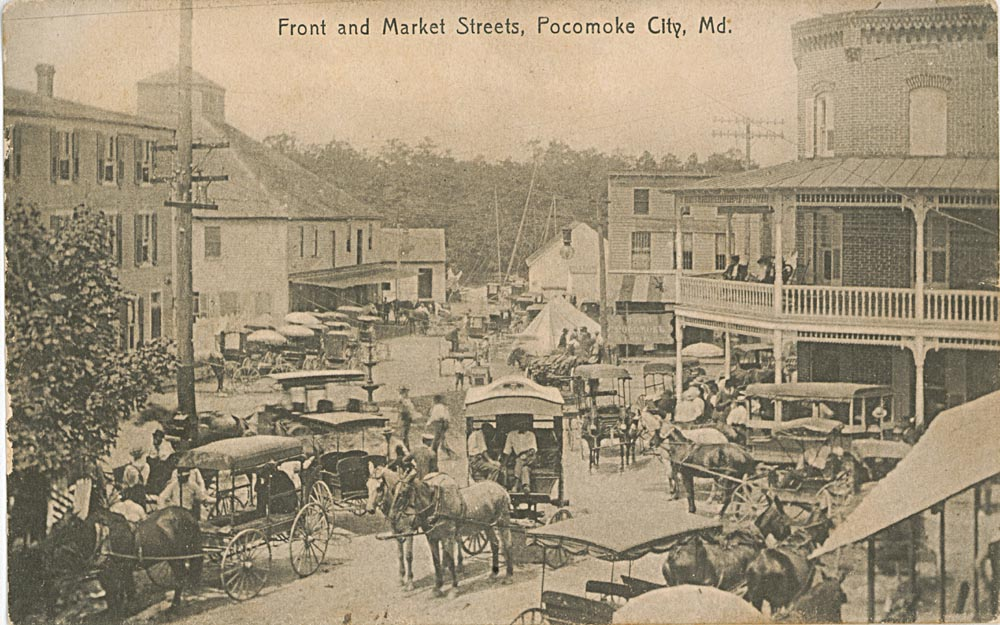 Front and Market Street Post Card