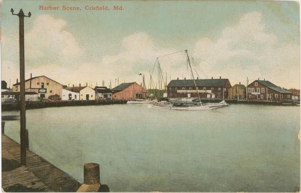 Crisfield Harbor Post Card